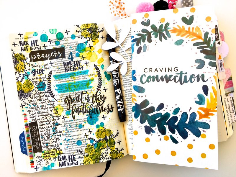 Fear Not He Knows - Bible Journaling Layout