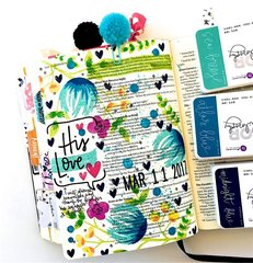 His Love Journaling Bible Layout
