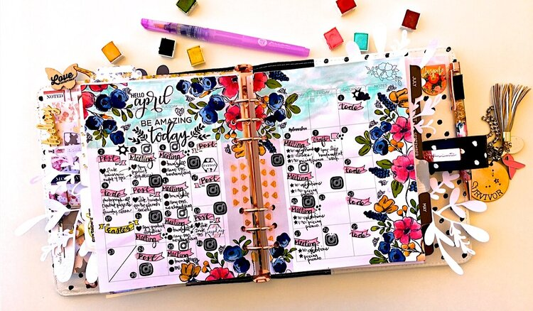 April Monthly Planner Layout