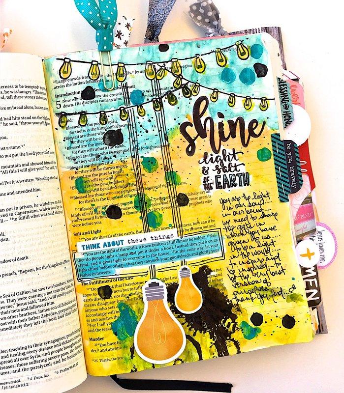 Shine Journaling Bible Layout