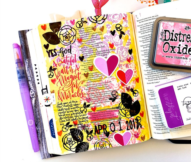 A grateful heart journaling bible layout