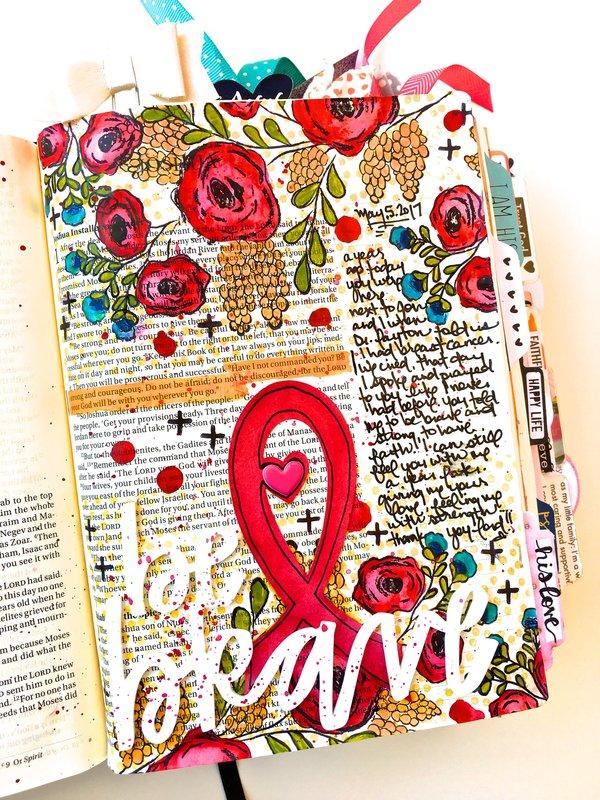 Be Brave Bible Journaling Layout
