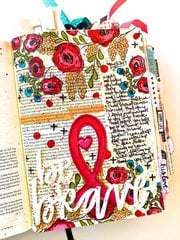 Be Brave Bible Journaling Layout