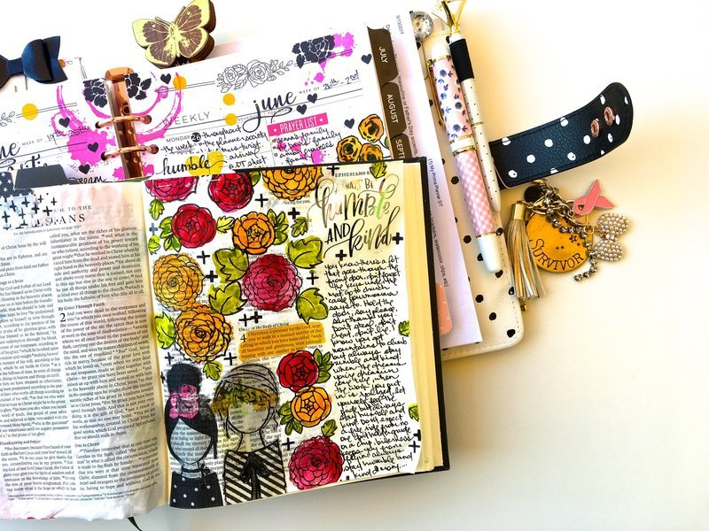 Bible Journaling Layout - Humble and Kind