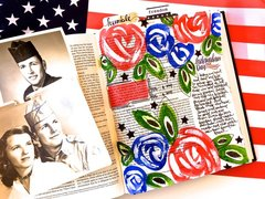 Patriotic Bible Journaling Layout