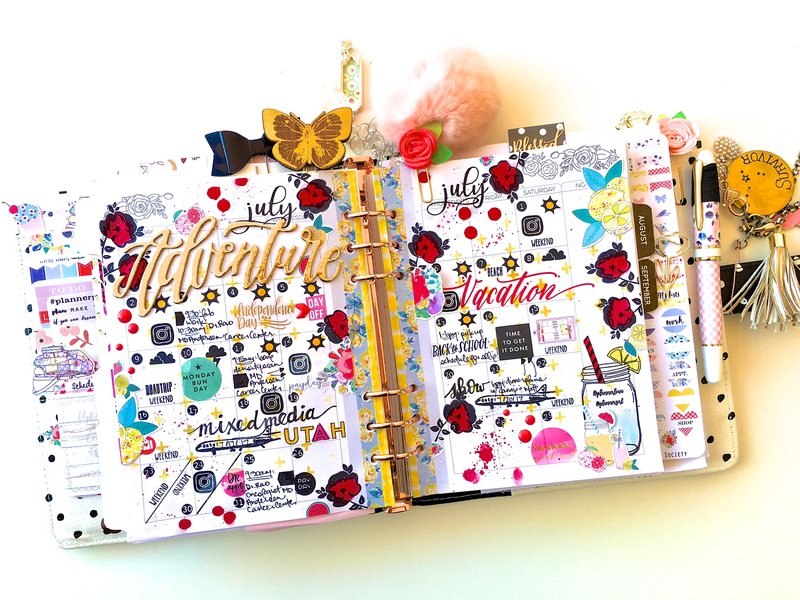 July Monthly Planner Layout