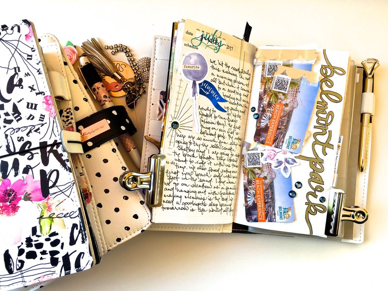 Traveler's Notebook Daily Vacation Layout