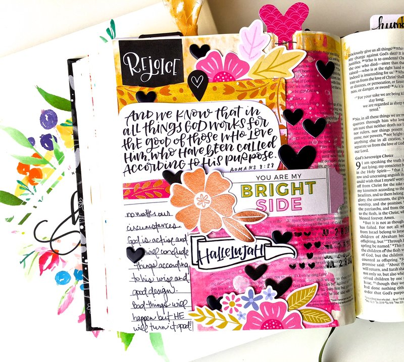 Rejoice Journaling Bible Layout