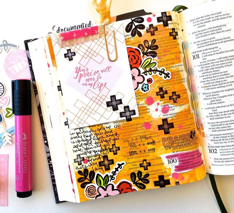 Your Praise Journaling Bible Layout