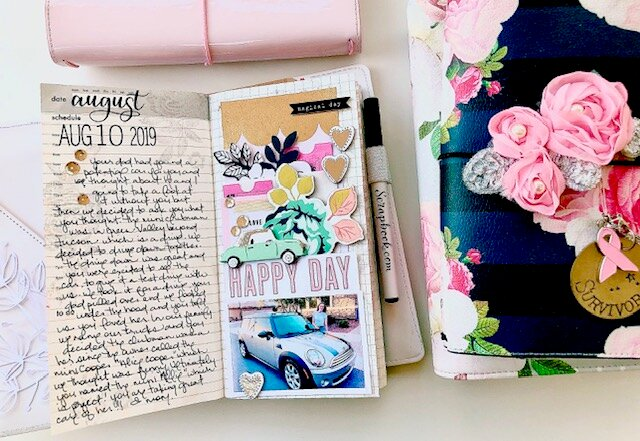 Happy Day Traveler's Notebook Layout