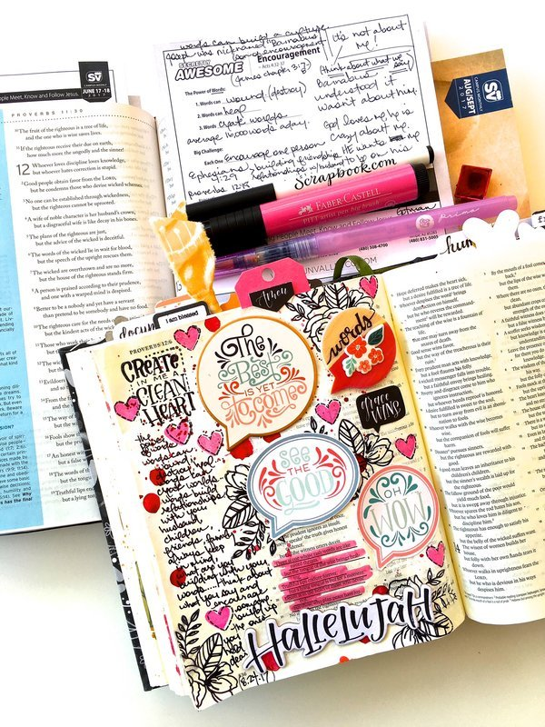 Journaling Bible Layout