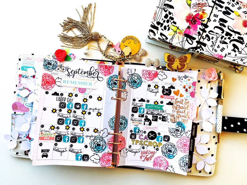 September Monthly Planner Layout