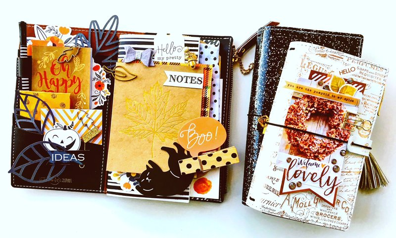 Traveler's Notebook Fall Layout