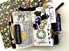 October Traveler's Notebook Layout