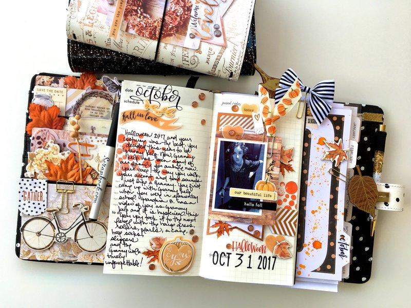 Halloween Layout in Traveler's Notebook