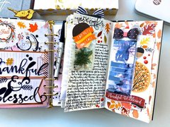 Thanksgiving Day Travelers Notebook Layout