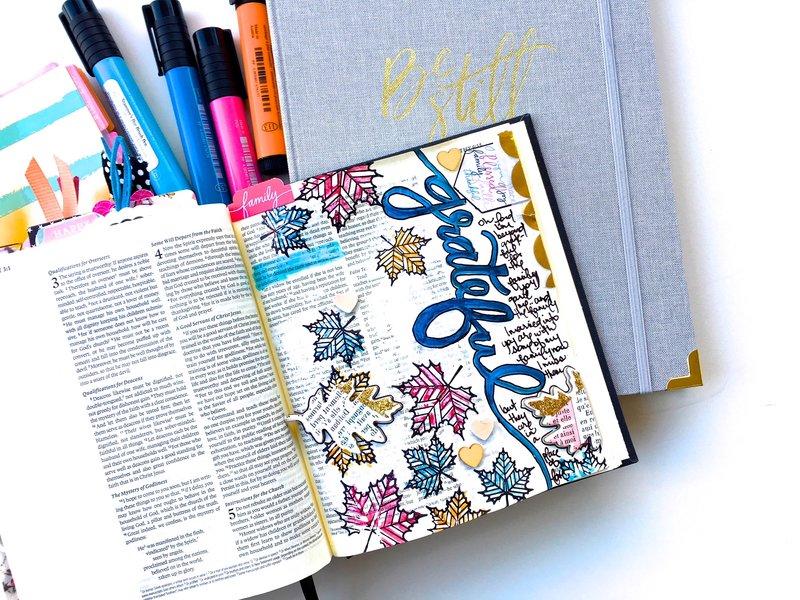 Grateful Journaling Bible Layout