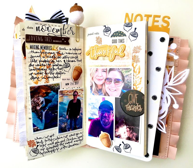 Give Thanks Traveler's Notebook Layout