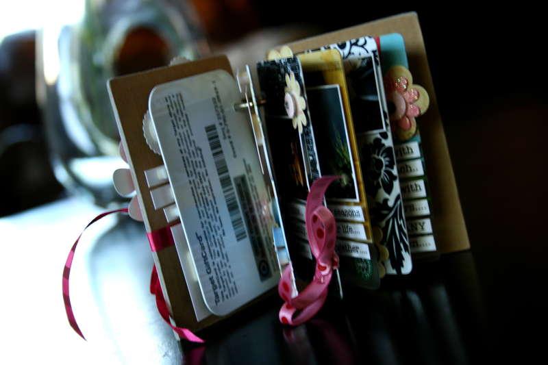 """Gift Certificate"" Minibook Open View"