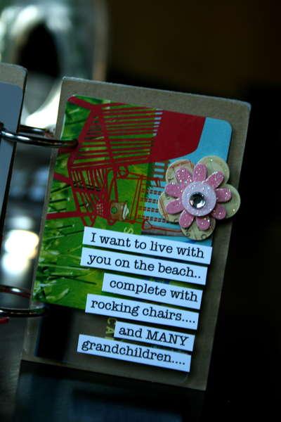 """""""Gift Certificate"""" Minibook"""