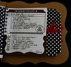 Cooking Minibook Recipe Cards - Teresa Collins Haute Cuisine Collection