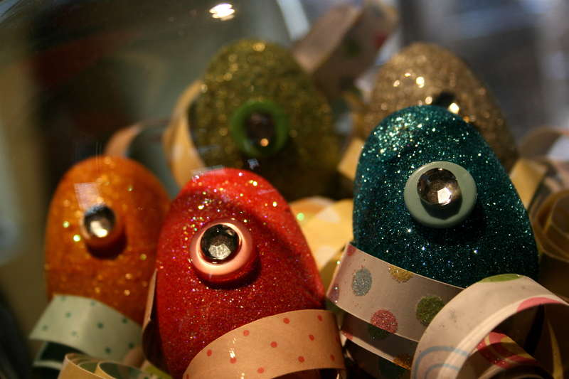 Glitter Easter Eggs Close.up