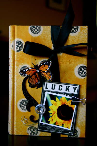 """Lucky"" Altered Book Cover"