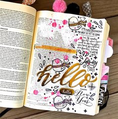 Hello New Year Bible Journaling Layout