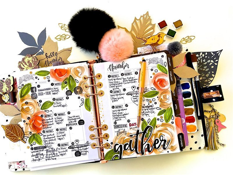 November Monthly Planner Layout