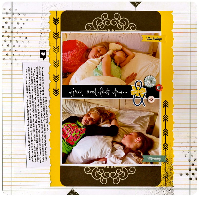Scrapbook.com Sept. Kit Club - First and last