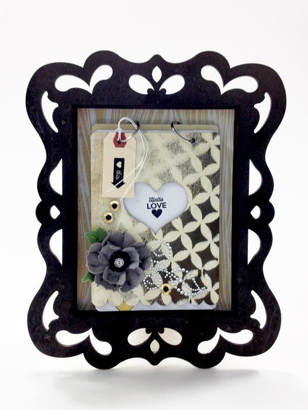 Hello Love Shadowbox Frame and Wood Album