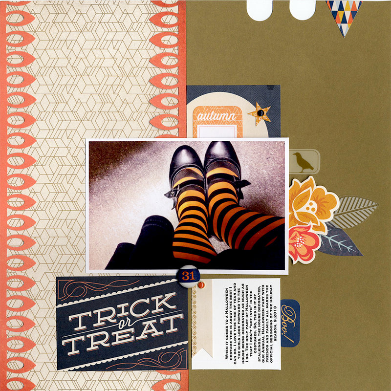 Trick or Treat Basic Grey Persimmon Collection