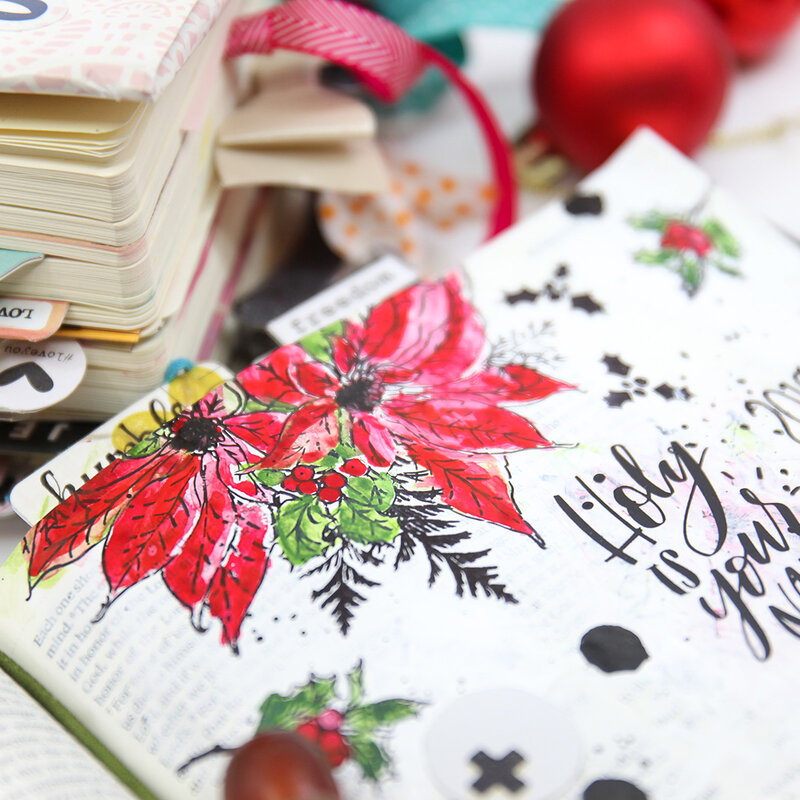 Holy Is Your Name Bible Journaling Layout