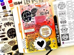 Journaling Bible Layout - How He Loves Us