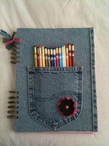 Sketchbook with denim