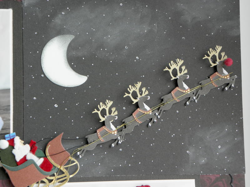 Close up of Kenzie's First Christmas Page