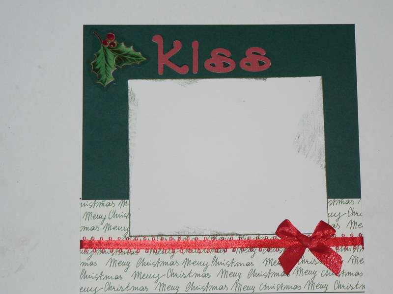 Kiss layout for Christmas ABC swap