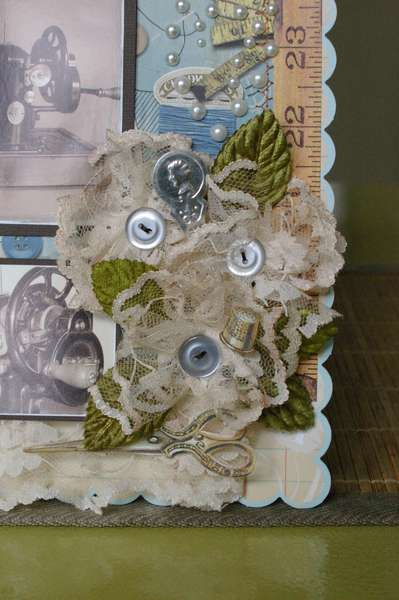 "Close up of ""Stitched with love'"