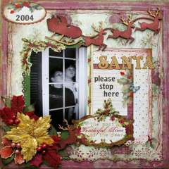 Santa Please Stop Here- ScrapThat Dec kit