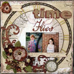 Time Flies Aug ScrapThat kit