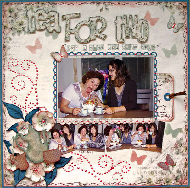 Tea For Two ScrapThat Sept Pion Kit