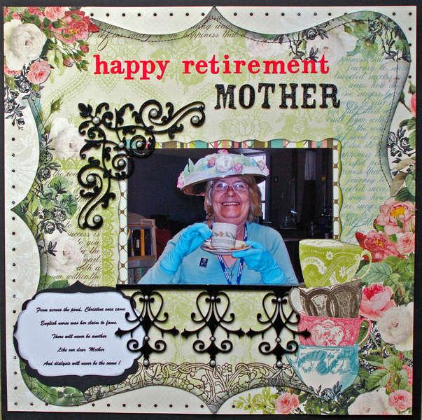 Happy Retirement Mother- April ScrapThat kit
