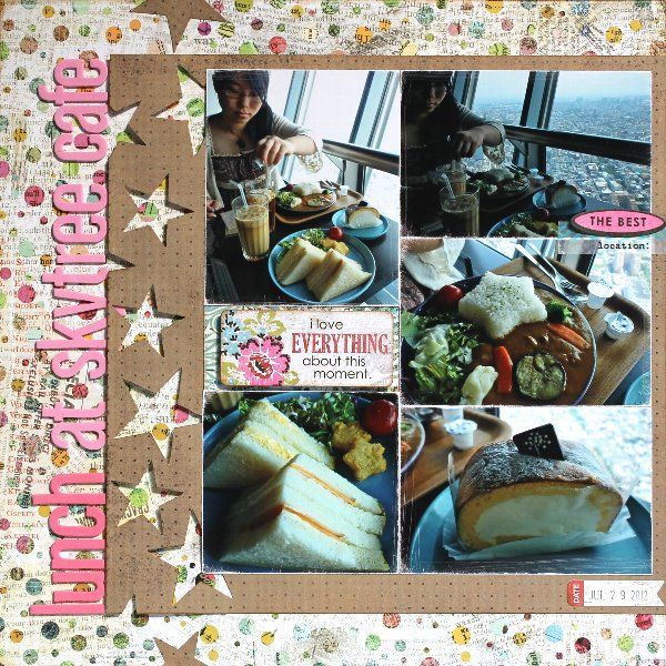 lunch at skytree cafe