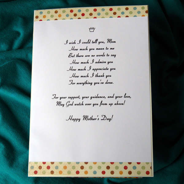NSD 2012 Challenge- Mother's Day Card