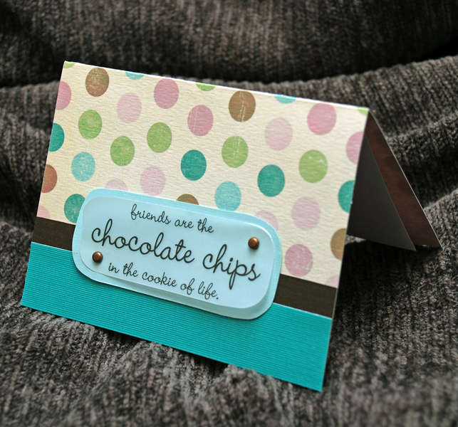 Friends and Chocolate Card