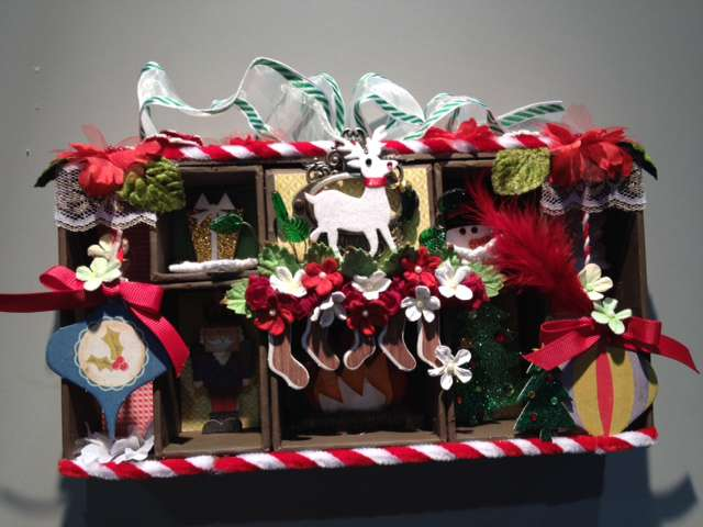 Altered Christmas Project featuring Brand New Petaloo Products