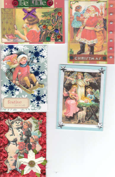 Fall/Winter ATC Swap - Vintage Christmas