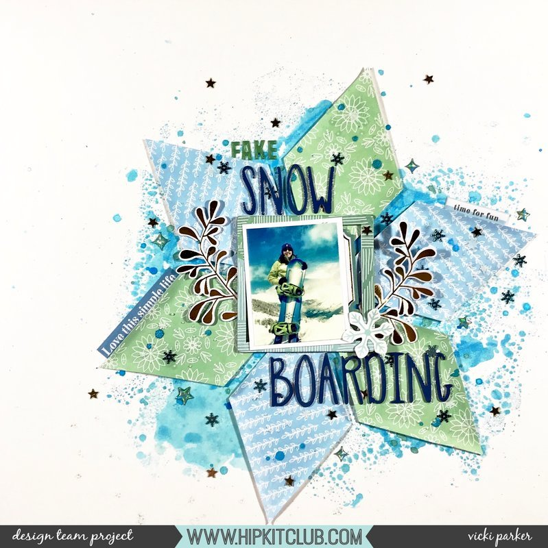 Fake Snow Boarding