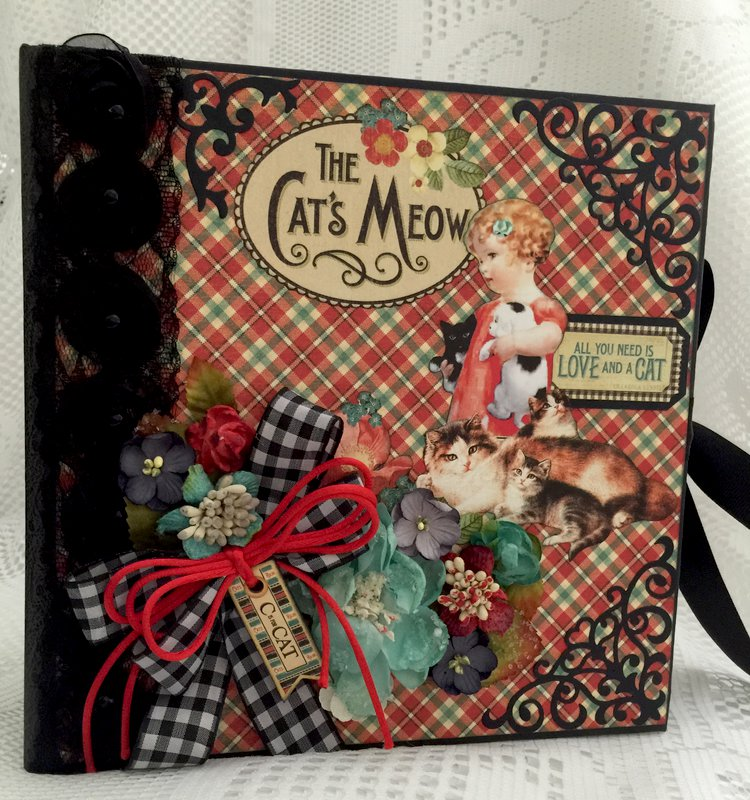 """Graphic 45 """"Raining Cats And Dogs"""" Cat Album By Cheryl's Paper Creations"""