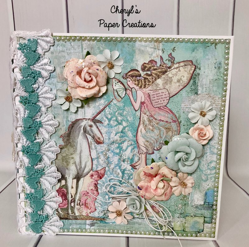 "Stamperia ""Wonderland"" Mini Album By Cheryl's Paper Creations"